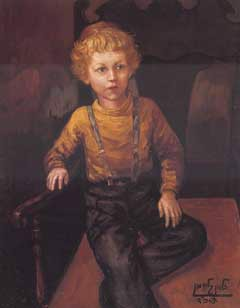 """Jewish Child"" - painting by chassidic artist Zalman Kleinman"