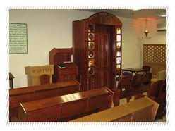 The synagogue in Kibbutz Lavi