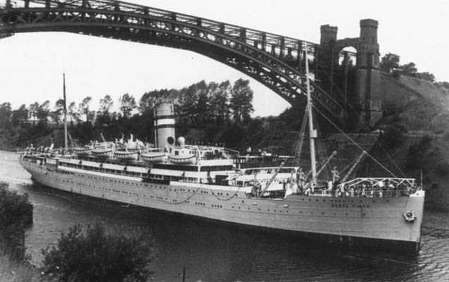 The SS Serpa Pinto, the ship the Rebbe and Rebbetzin arrived on from war-torn Europe