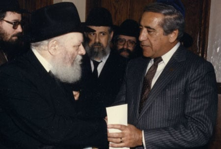 The Rebbe and David Chase (right). Photo: JEM