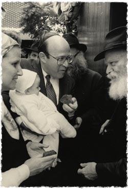 Bob and Diane Abrams with Rebbe.jpg