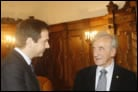 Elie Wiesel Focuses on Shared Futures in Parliamentary Address