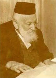 Dr Moché Wallach (né en 1866), fondateur de l'hôpital Shaarei Tzedek à Jérusalem, dans ses dernières années.