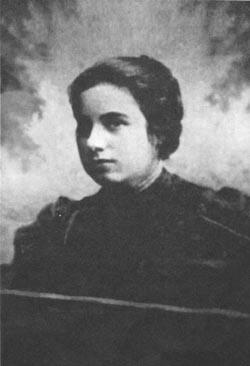 The Rebbe's mother, Rebbetzin Chana, as a young woman.