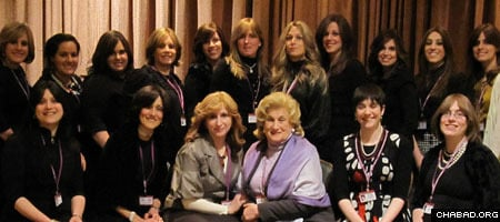 Ella Vorovich, seated, third from left, discovered she had cousines all over the world weeks before the 22nd annual International Conference of Chabad-Lubavitch Women Emissaries.