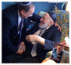Abraham Foxman, left, and Rabbi Leo Goldman meet again after 65 years. Each had lived in the other man's memory. (David Brystowski)