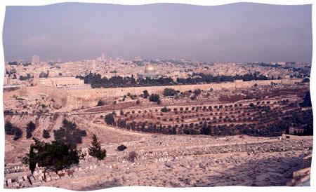 Le mont du Temple vu du mont des Oliviers