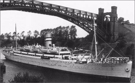 The SS Serpa Pinto, the ship the Rebbe and Rebbetzin arrived on from war-torn Europe.