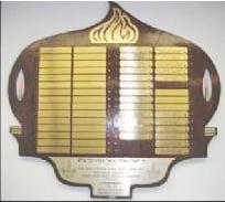 Memorial Board Plaque