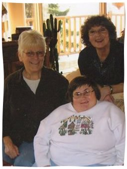 The author with Jill and her mother
