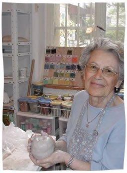 Dorothy Smith creating pottery