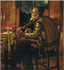 """""""מלווה מלכה"""", ציורו של זלמן קליינמן."""