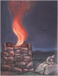"""""""המזבח"""". ציורו של זלמן קליינמן"""