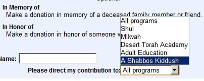 A Shabbos Kiddush