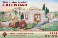 Advertise in the Idaho Jewish Calendar