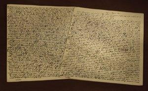 Manuscript written by Rabbi Sholom Dovber.