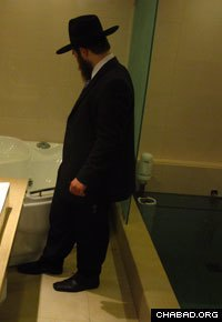 Now supervised by Chabad-Lubavitch Rabbi Chanoch (pictured) and Leah Gechtman, the ritual bath is housed at Mumbai's Tiferet Israel Synagogue.