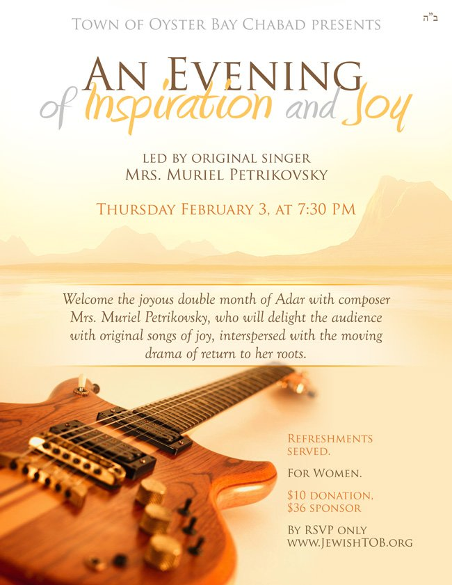 An Evening of Inspiration & Joy - Click here to reserve