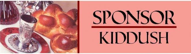 Sponsor Kiddush