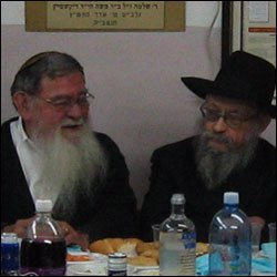 Professor Greene and Rabbi Moshe Feller (right).