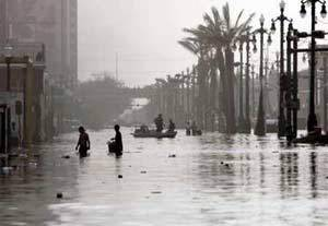 In the aftermath of Hurricane Katrina, New Orleans, September 2005