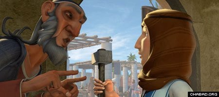 Young Abraham, right, and his fictional acquaintance Utz take a monotheistic journey in a new CGI animated direct-to-market release.