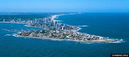 The resort town of Punta del Este, Uruguay, attracts thousands of vacationing city dwellers during the summer.