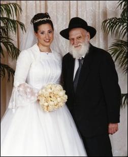 My wife Chana Raizel with Grandpa Mordechai Chaiton.