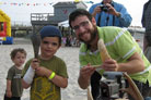 Hundreds Party at the Beach During Atlantic City's Jewish Summer Fest