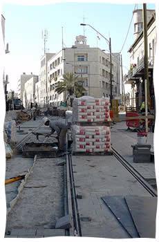 Le chantier du Tramway de Jérusalem en 2009 (Photo: Adam Yishay Amorai - Creative Commons)