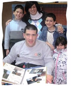 A recent image of the author and her family with Tal