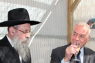 Rome Leaders Offer Blessings of Peace at Jewish Holiday Hut