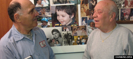 Gregory Solomon, left, and Meir Jakubovski are half-brothers who were separated by the Iron Curtain.