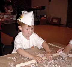 Making a Matzah at the Matzah Bakery at the JCC