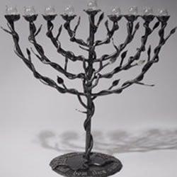 A menorah made from rockets