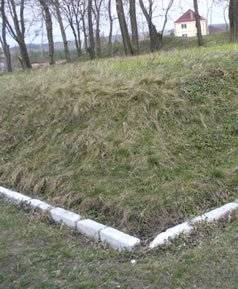 One of Gaisin's mass graves, with no monument.