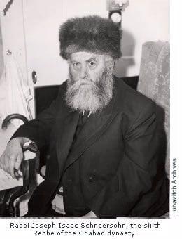 Rabi Iosef Itzjak Schneerson, sexto Rebe de la dinastía de Jabad