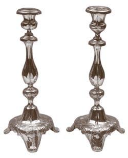 Rebbetzin Chaya Mushka's Shabbat candlesticks