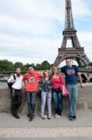 Наша молодежь в Париже июль 2012