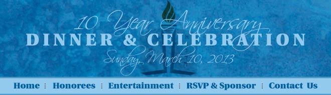 10 Year Anniversary Dinner & Celebration