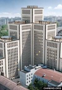 The Menorah Center's seven towers encompass 538,000 square feet of space. (Photo: djc.com.ua)
