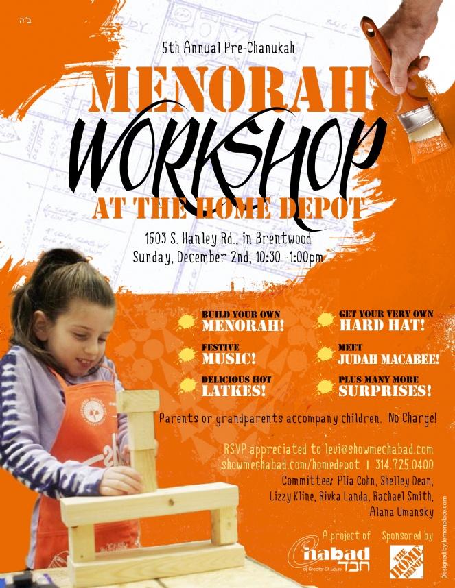 Menorah Workshop 2012