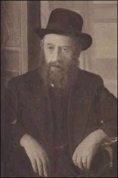 O quinto Rebe da dinastia Chabad-Lubavitch, Rabi Sholom Dovber, o Rebe Rashab, fotografado em Rostov-no-Don