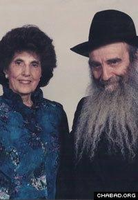 Miriam and Rabbi Sholom Ber Gordon.