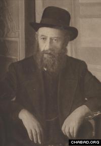Rabbi Shalom Dovber Schneersohn, known as the Rebbe Rashab. (Photo: Agudas Chasidei Chabad Library/Lubavitch Archives)