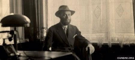 The Rebbe, Rabbi Menachem Mendel Schneerson, circa 1920's. (Photo: Agudas Chasidei Chabad Library/Lubavitch Archives)
