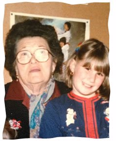 The author with her grandmother