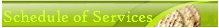 Schedule of Services (Green)