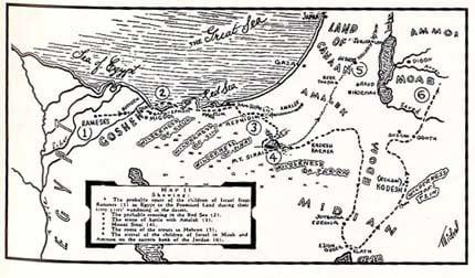 מפה של יציאת מצרים