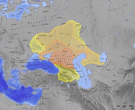 The kingdom of Khazaria